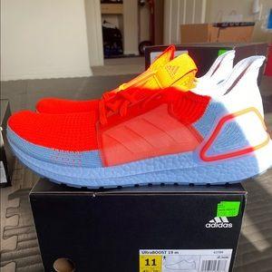 Adidas Ultraboost 19 Orange Blue grey G27505 NWT